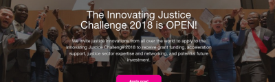 HiiL's Innovating Justice Challenge 2018