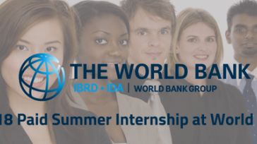 Paid Internship Opportunity for Graduate Students at the World Bank in the US 2019